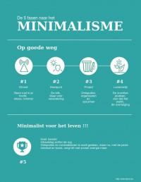 infographic - 5 fasen naar het minimalisme