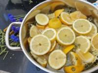 Vlierbloesem mengsel met citroen